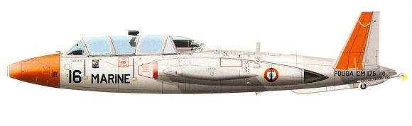 Profil couleur du Fouga CM.175 Zéphyr