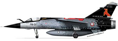 Profil couleur du Dassault Aviation Mirage F1-CR