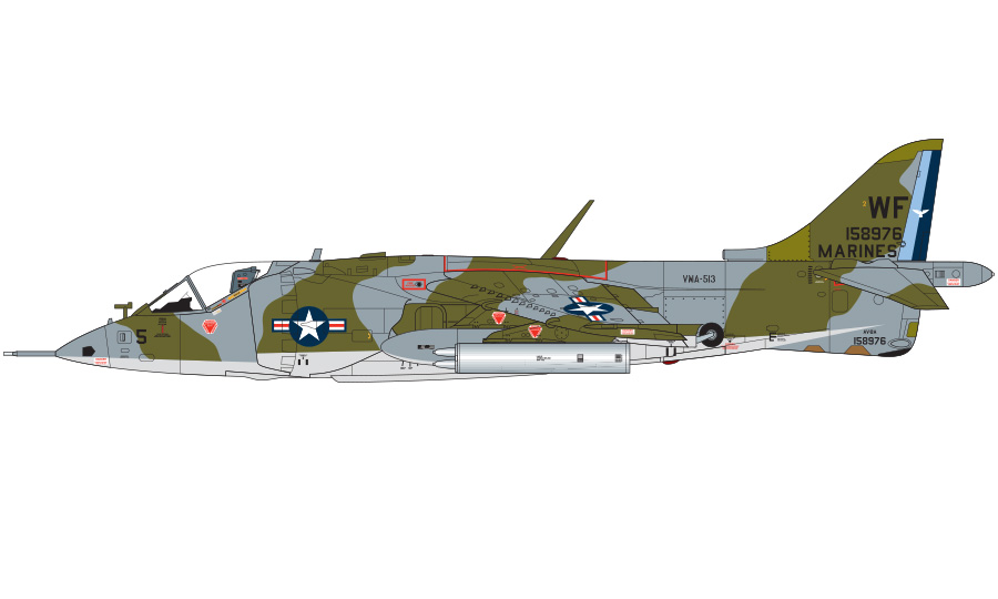 Profil couleur du Hawker-Siddeley AV-8 Harrier