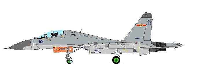 Profil couleur du Shenyang J-11 / J-16 'Flanker B+/G+'