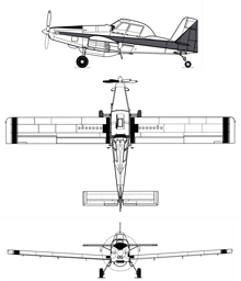 Plan 3 vues du Air Tractor AT-802