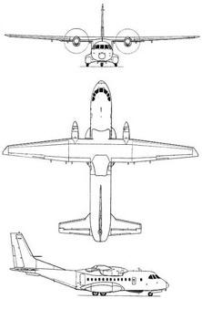 Plan 3 vues du Airbus Military HC-144 Ocean Sentry