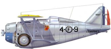 Profil couleur du Grumman F2F