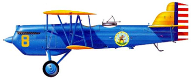 Profil couleur du Curtiss O-1 / F8C Falcon
