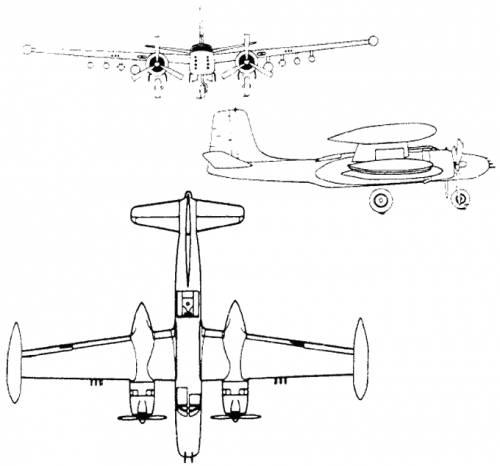 Plan 3 vues du On Mark B-26K Counter Invader