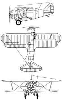 Plan 3 vues du Grumman F2F