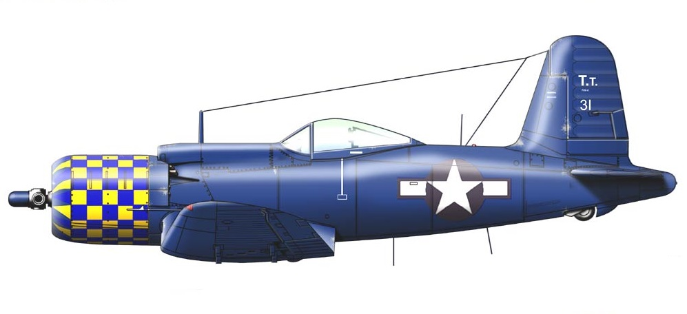 Profil couleur du Goodyear F2G Super Corsair