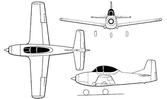 Plan 3 vues du AIDC T-CH-1 Chung Hsing