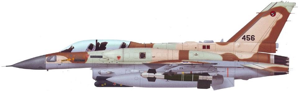 Profil couleur du Lockheed-Martin F-16E/F Desert Falcon