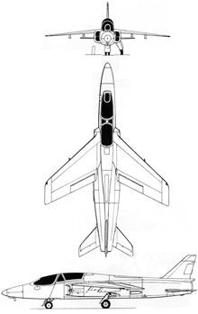 Plan 3 vues du HAL Ajeet