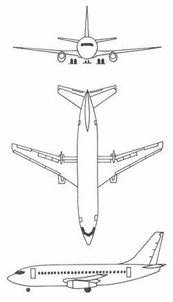 Plan 3 vues du Boeing T-43/ CT-43 Gator