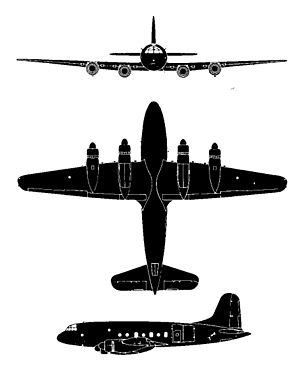Plan 3 vues du Handley Page HP.67 Hastings
