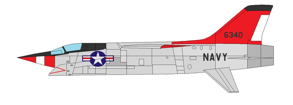 Profil couleur du Vought XF8U-3 Crusader III