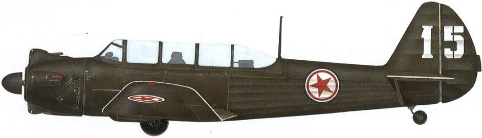 Profil couleur du Yakovlev Yak-18 'Max'
