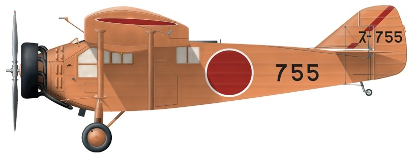 Profil couleur du Mitsubishi K3M 'Pine'