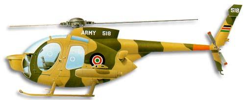 Profil couleur du McDonnell-Douglas MD 500 Defender
