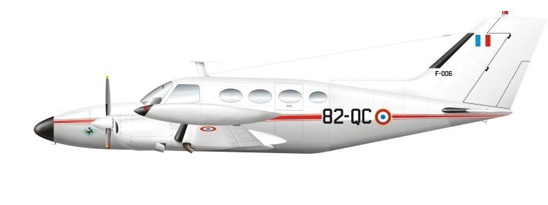 Profil couleur du Cessna 401 / 402 / 411 / 421 Golden Eagle