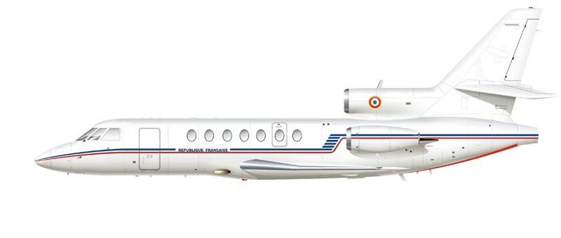 Profil couleur du Dassault-Breguet Falcon 50
