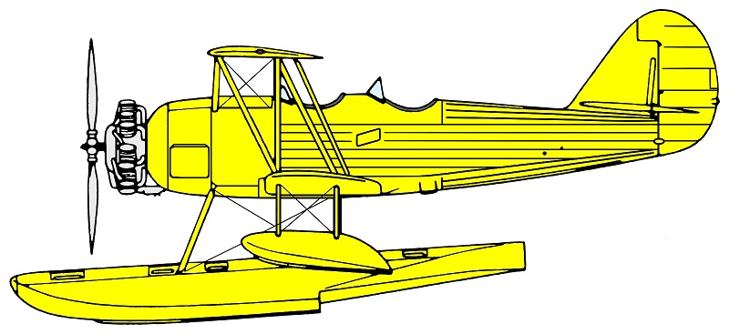 Profil couleur du Naval Aircraft Factory N3N Canary