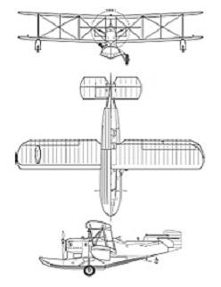 Plan 3 vues du Loening OL / OA-1