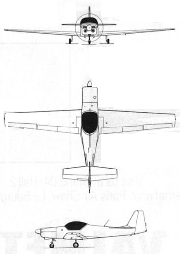 Plan 3 vues du Slingsby Aviation T67 Firefly