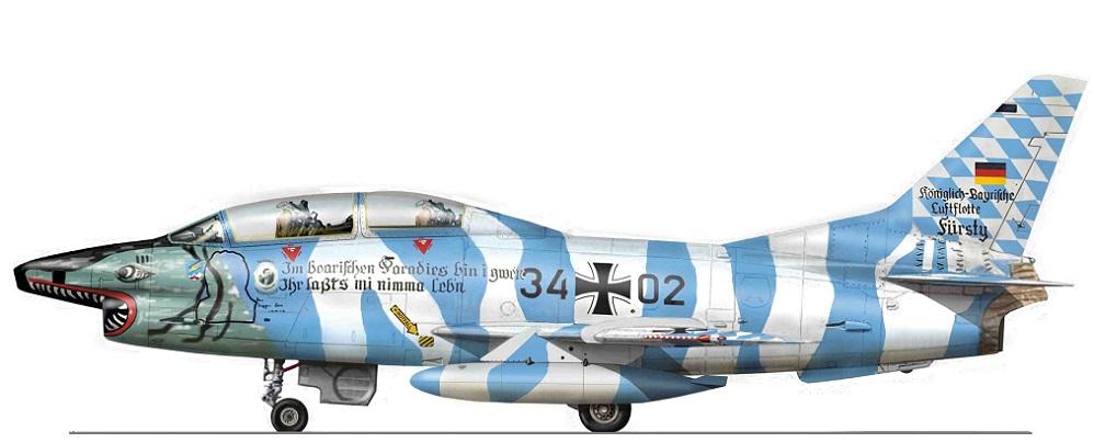 Profil couleur du Fiat G.91T Gina