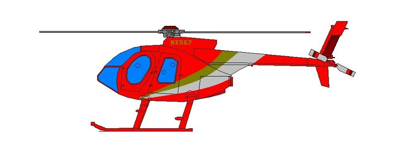 Profil couleur du MD Helicopter MD-520 / MD-530 Defender