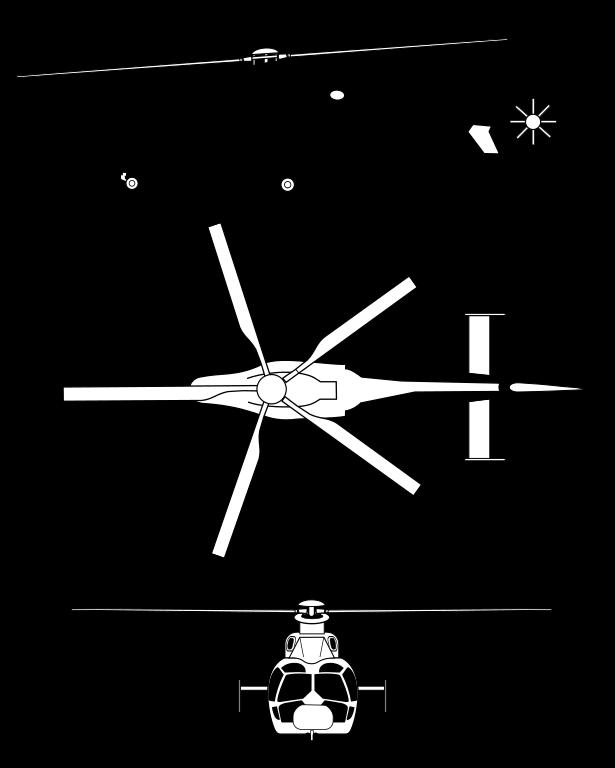 Plan 3 vues du Eurocopter EC-155