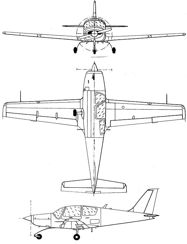 Plan 3 vues du Ilyushin Il-103