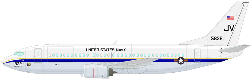 Profil couleur du Boeing C-40 Clipper