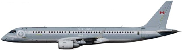 Profil couleur du Bombardier CSeries / Airbus A220