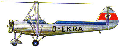 Profil couleur du Focke-Wulf Fw 61