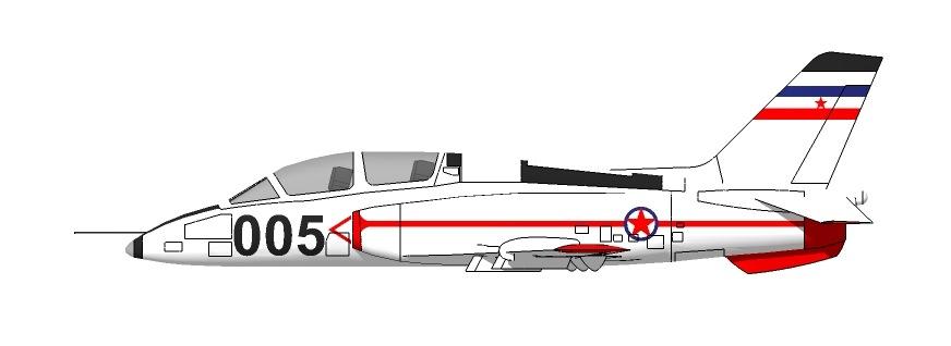 Profil couleur du Soko G-4 Super Galeb