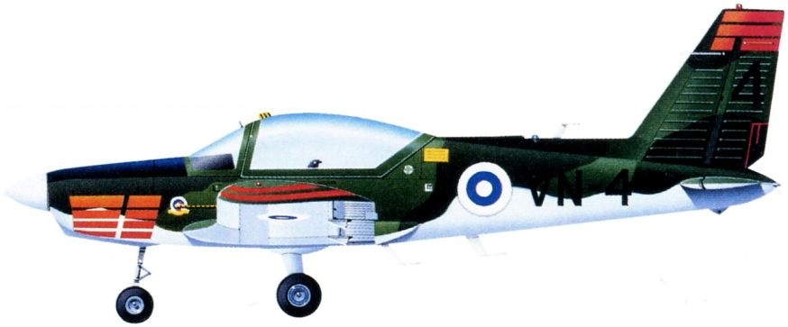 Profil couleur du Valmet L-70 Vinka