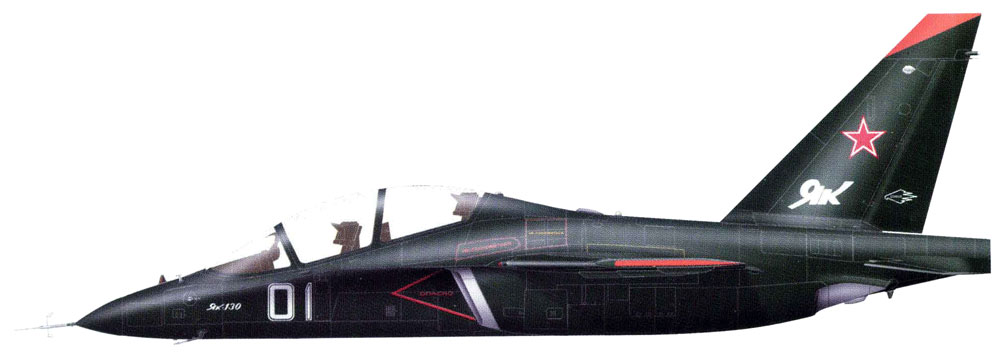 Profil couleur du Yakovlev Yak-130 'Mitten'