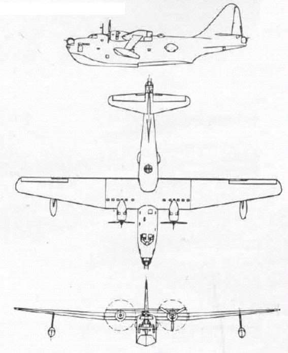 Plan 3 vues du Boeing PBB Sea Ranger