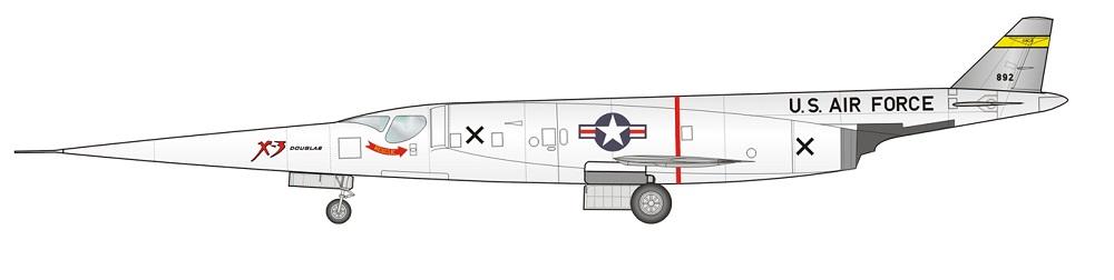 Profil couleur du Douglas X-3 Stiletto