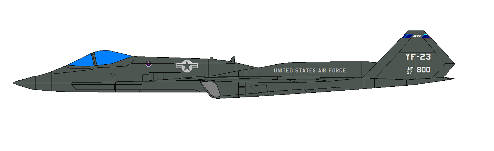 Profil couleur du Northrop YF-23 Black Widow II