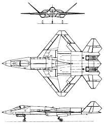 Plan 3 vues du Northrop YF-23 Black Widow II
