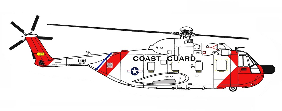 Profil couleur du Sikorsky CH-3 Jolly Green Giant / HH-3 Pelican