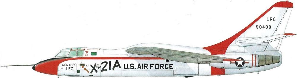 Profil couleur du Northrop X-21