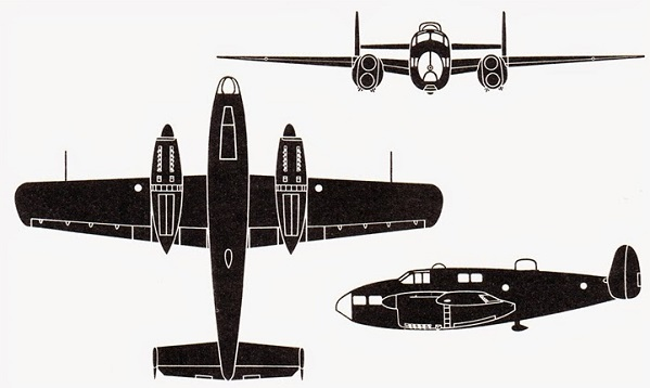 Plan 3 vues du Fairchild AT-21 Gunner