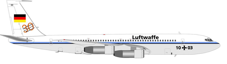 Profil couleur du Boeing 707