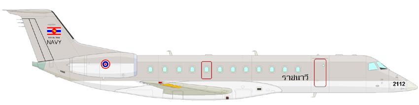 Profil couleur du Embraer ERJ135 / ERJ140 / ERJ145