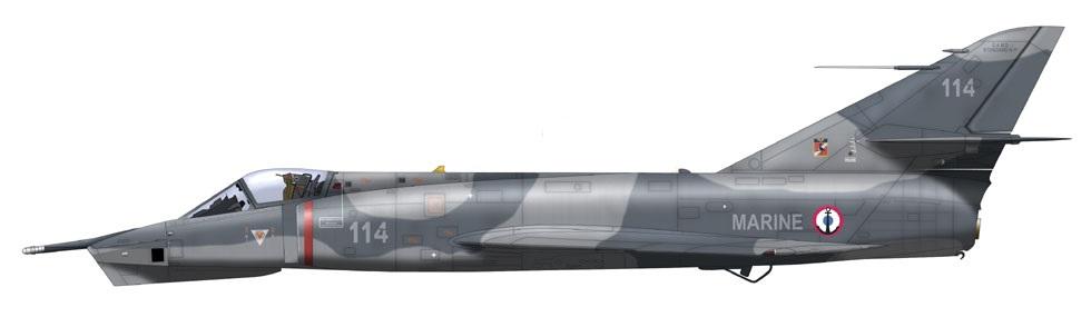 Profil couleur du Dassault Étendard IVP
