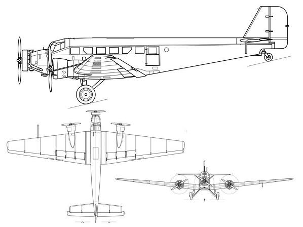 Plan 3 vues du Amiot AAC-1 Toucan