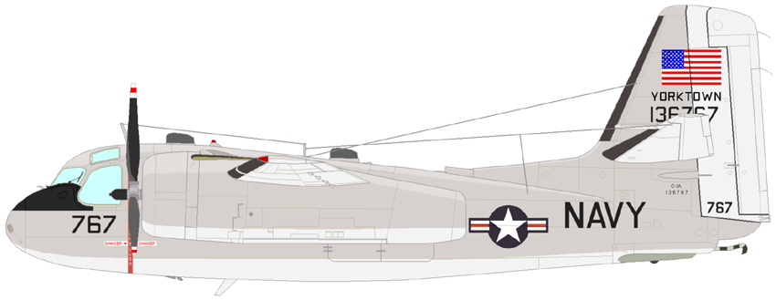 Profil couleur du Grumman C-1 / EC-1 Trader