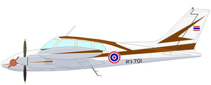 Profil couleur du Cessna U-3 Blue Canoe