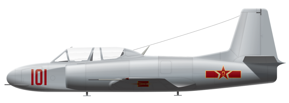 Profil couleur du Shenyang JJ-1