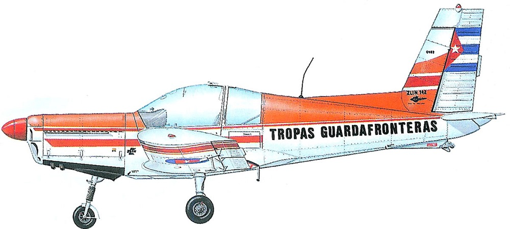 Profil couleur du Zlin Z-42 / Z-142 / Z-242
